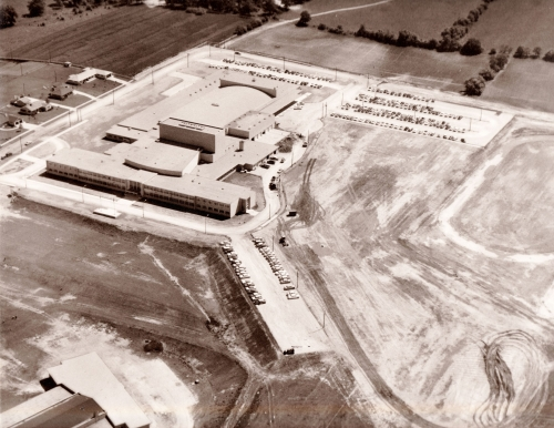 Waukesha South High under construction, courtesy of Dick Hein