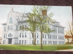 Union Grade School   formerly  Waukesha High School taken from a post card dated 1910.  School has been demolished.