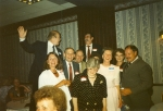 7/22/89 - 30th class reunion, Union school students. Front: Bonnie Bir, Diane Herek, Susan Imig, Ron Douglas.  Back Row:
